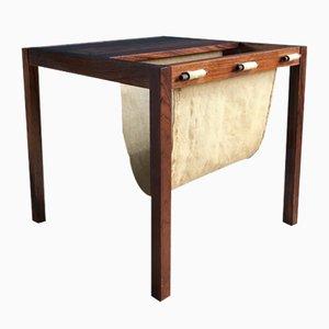 Table d'Appoint Vintage en Palissandre avec Porte-Revues, Danemark, 1960s