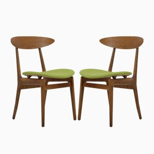 Scandinavian Oak Chairs, 1960, Set of 2