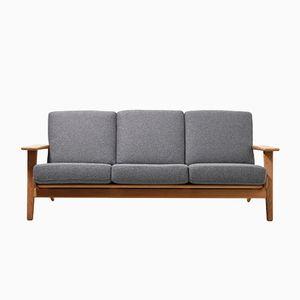 Mid-Century GE-290 Drei-Sitzer Sofa von Hans J. Wegner für Getama