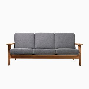 Mid-Century GE-290 Three-Seater Sofa by Hans J. Wegner for Getama