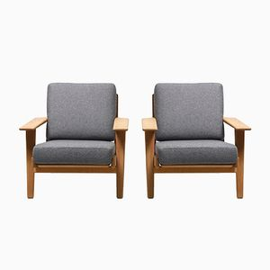 GE-290 Easy Chairs by Hans J. Wegner for Getama, 1950s, Set of 2
