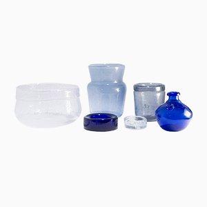 Glass Vessels by Erik Höglund for Boda, 1960s, Set of 6