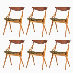 Esszimmerstühle von Arne Hovmand Olsen für Mogens Kold, 1950er, 6er Set