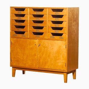 Beech Archive Cabinet from Jakobsson Industrier, 1950s