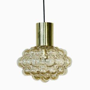 Lampada Mid-Century in ottone con bolle in vetro di Helena Tynell per Limburg