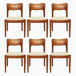 Ole Teak Dining Chairs by John Mortensen for Koefoeds Hornslet, 1981, Set of 6