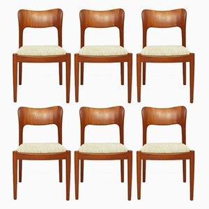 Ole Teak Esszimmerstühle von John Mortensen für Koefoeds Hornslet, 1981, 6er Set