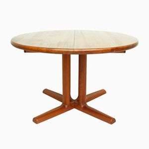 Danish Extendible Solid Teak Dining Table from Dyrlund, 1960s
