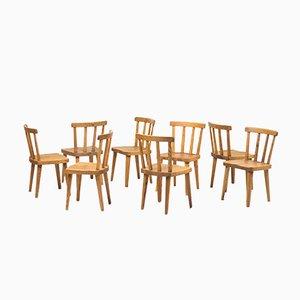 Schwedische Uto Stühle von Axel Einar Hjorth für Nordiska Kompaniet, 1930er, 8er Set