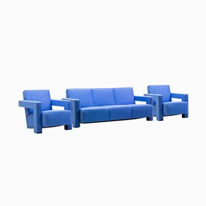 Vintage Utrecht Living Room Set by Gerrit Thomas Rietveld for Metz & Co