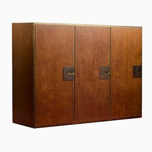 Vintage Modernist Bird's- Eye Maple Veneered Wardrobe