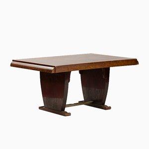 Table de Salle à Manger Vintage Art Déco en Contreplaqué de Noyer