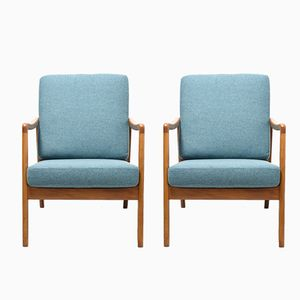 Mid-Century FD109 Easy Chairs by Ole Wanscher for France & Daverkosen, Set of 2