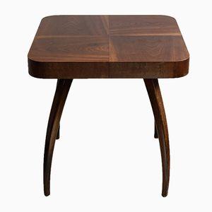 Petite Table Basse Nr H259 en Placage de Noyer par Jindrich Halabala pour Setona, 1930s