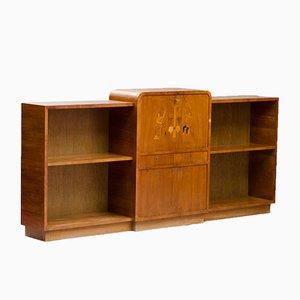 Vintage Bookshelf with Bar from Gärsnäs Möbler