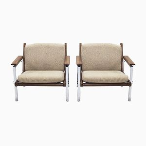 Mid-Century Lotus Arm Chairs by Rob Parry for De Ster Gelderland, 1960s, Set of 2