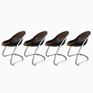 Chaises de Salon par Gastone Rinaldi pour Thema, Italie, 1970s, Set de 4