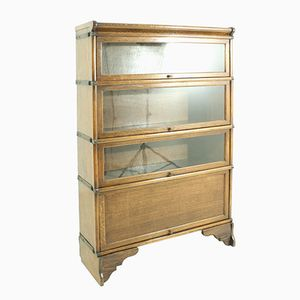 Antique Art Nouveau Captain's Display Cabinet, 1900s