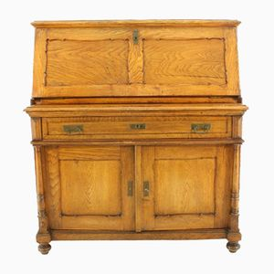 Antique Oak Secretaire, 1890s