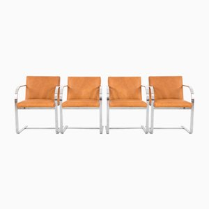 Mid-Century Esszimmerstühle von Thonet, 4er Set