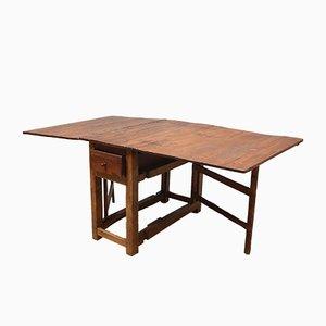 Table Antique en Chêne à Abattants, Suède