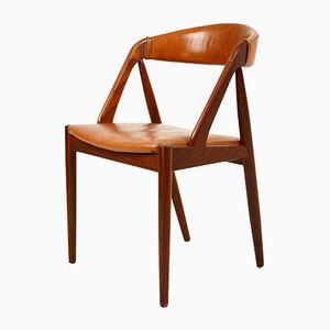 Modell 31 Teak Stuhl von Kai Kristiansen für Schou Anderssen, 1960er