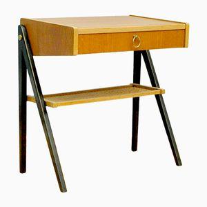 Kleiner Teak Nachttisch mit Schublade, 1960er