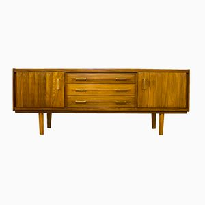 Danish Mid-Century Teak Diamond Cut Relief Sideboard