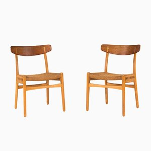 CH 23 Dining Chairs by Hans J. Wegner for Carl Hansen & Søn, 1960s, Set of 4