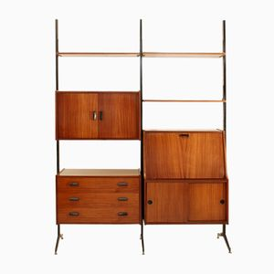 Italian Shelving Unit, 1960s