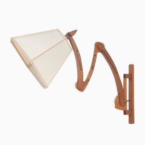 Teak Scissor Wall Lamp, 1958