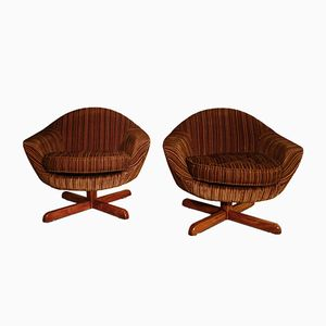 Space Age Egg Swivel Lounge Chairs, 1960s, Set of 2