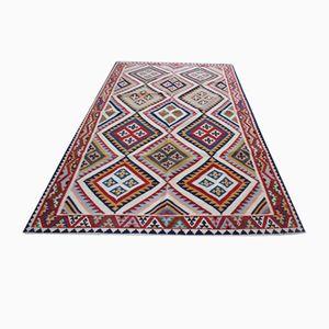 Vintage Iranian Handmade Woolen Kelim Kashgai Rug