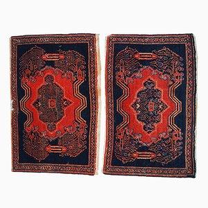 Antike Handgeknüpfte Persische Senneh Teppiche, 2er Set