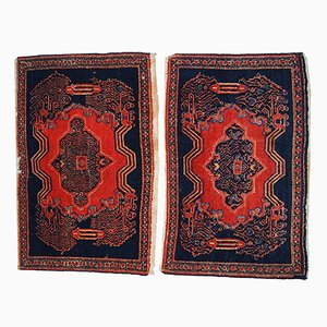 Antique Handmade Persian Pair Senneh Rugs, Set of 2