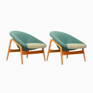 Modell 118 Columbus Pot Stühle von Hartmut Lohmeyer für Artifort, 1950er, 2er Set