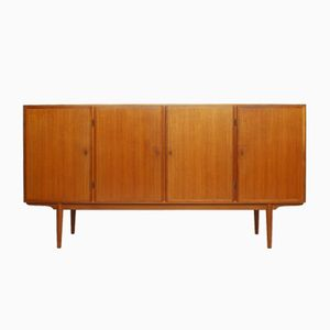 Danish Teak Highboard & Room Divider from Omann Jun Møbelfabrik, 1960s