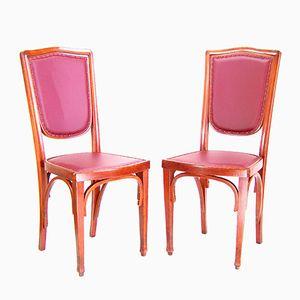 Wiener Sezession 324 Stühle von J&J Kohn, 1900er, 2er Set