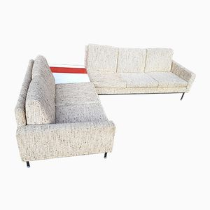 Mid-Century Cream Sofas, Set of 2