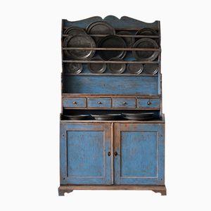 Blauer Schwedischer Vintage Küchenschrank