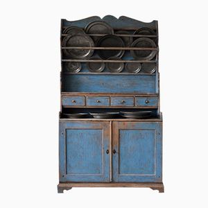 Vintage Swedish Blue Kitchen Cabinet