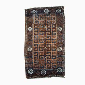 Antiker Afghanischer Handgeknüpfter Bakuch Teppich