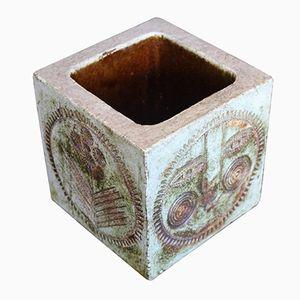 Viereckige Keramik Vase von Roger Capron, 1960er
