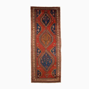 Antiker Handgewobener Persischer Karadjeh Läufer