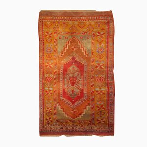 Antiker Handgewobener Türkischer Teppich