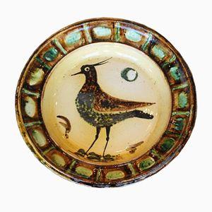 Großer Keramik Teller von Pierre Roulot, 1969
