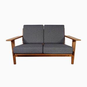GE 290 Teak 2- Sitzer Sofa von Hans J. Wegner für Getama, 1960er