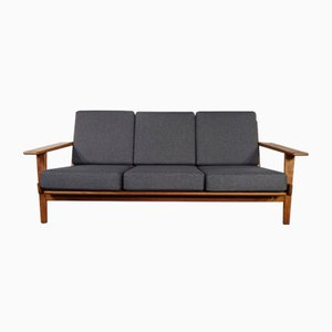 GE 290 Teak 3- Seater Sofa by Hans J. Wegner for Getama, 1960s