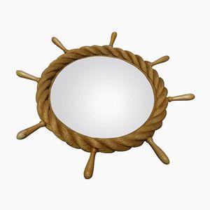 Round Rope Mirror by Adrien Audoux & Frida Minet, 1960s