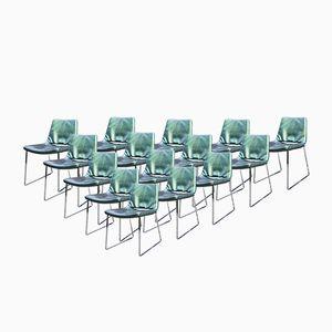 ME48 Metropolitan Chairs by Jeffrey Bernett for B&B Italia, 1980s, Set of 15